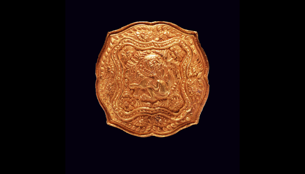 Tang Dynasty Gold Repousse Box