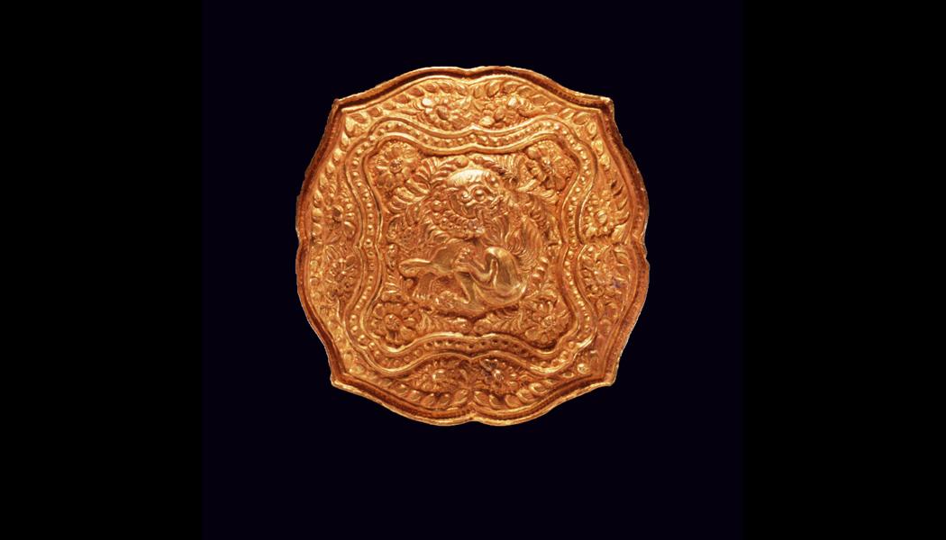 Golden Repousse Box
