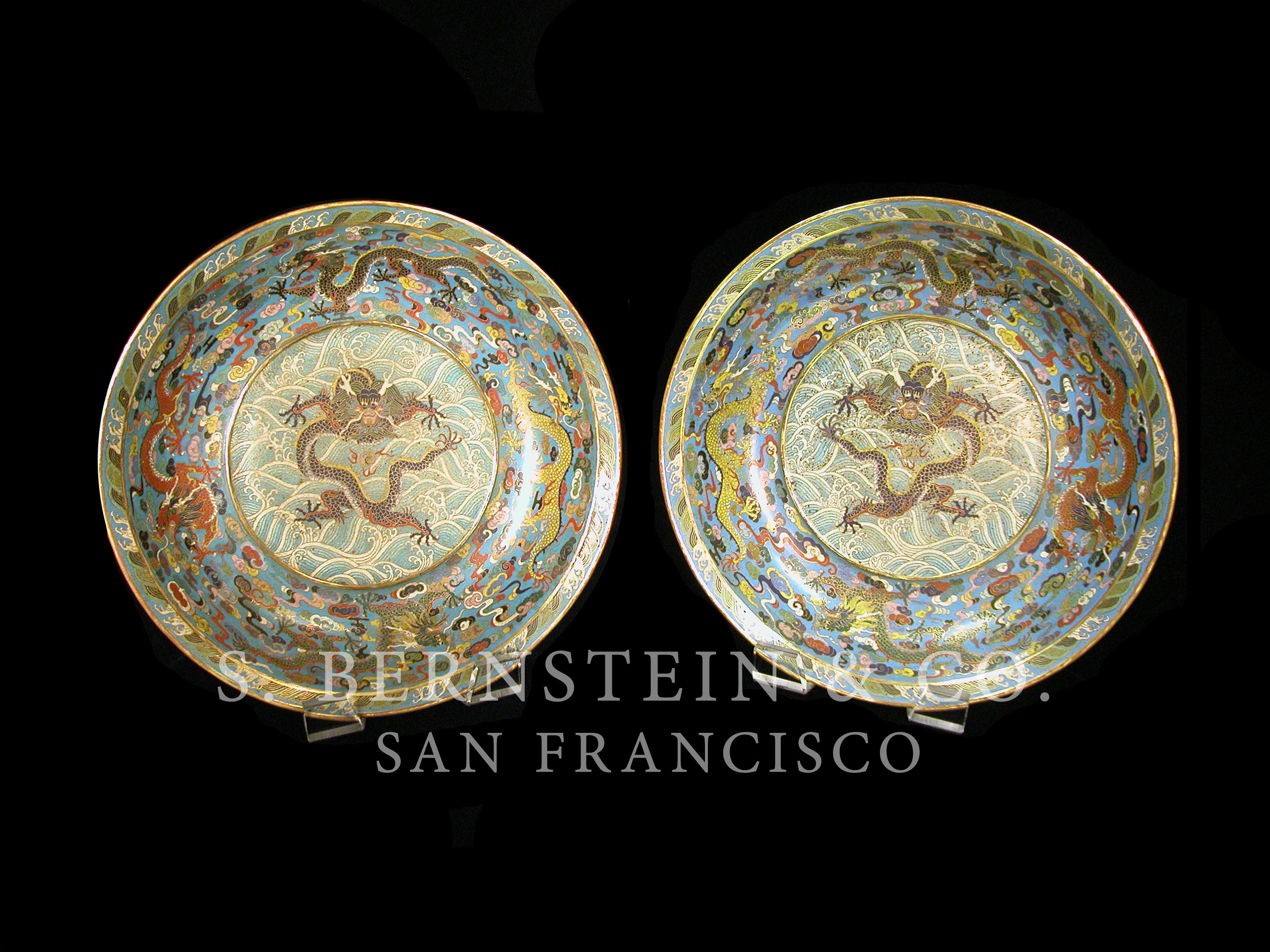 Important pair of Imperial Cloisonne Bowls